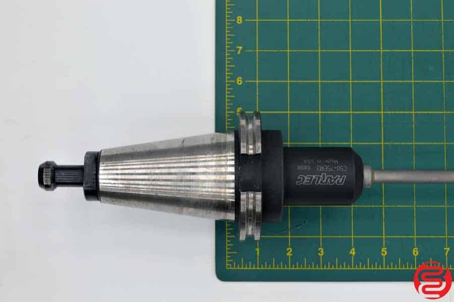 Parlec Cat 50 75EM3 Mill Holder w/ Gun Drill Bit
