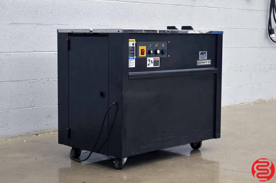 2007 Polychem PC 101 Semi-Automatic Table Top Strapping Machine