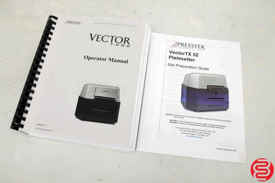 Presstek Vector TX52 Computer to Plate System w/ Rip Computer