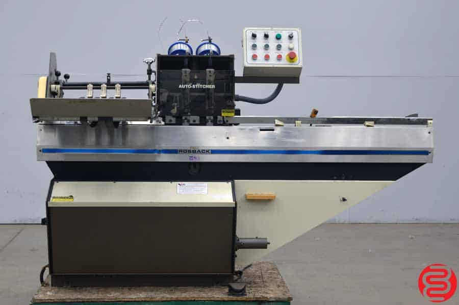 Rosback 318 Saddle Stitcher Semi-Automatic Book Binding System
