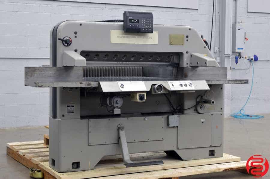 Schneider Senator 115 MC2 Programmable Paper Cutter w/ MicroCut, Safety Lights and Air Table