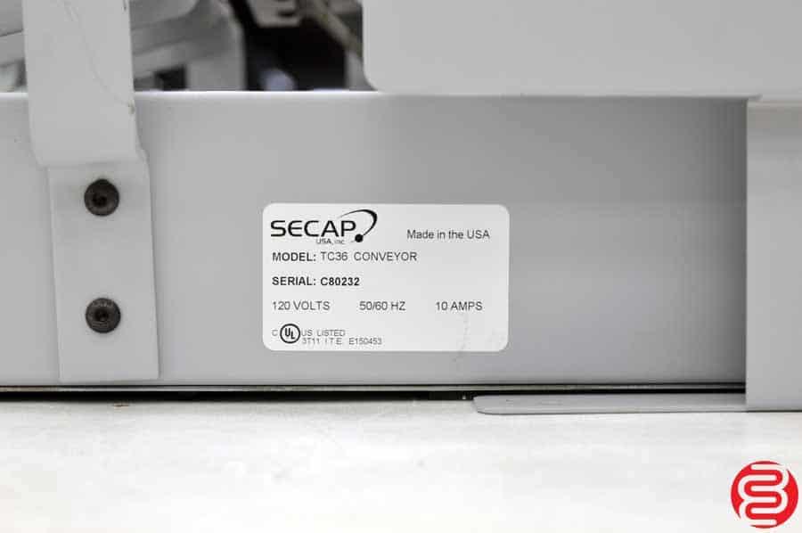 Secap TC36 Conveyor w/ TD36 Dryer
