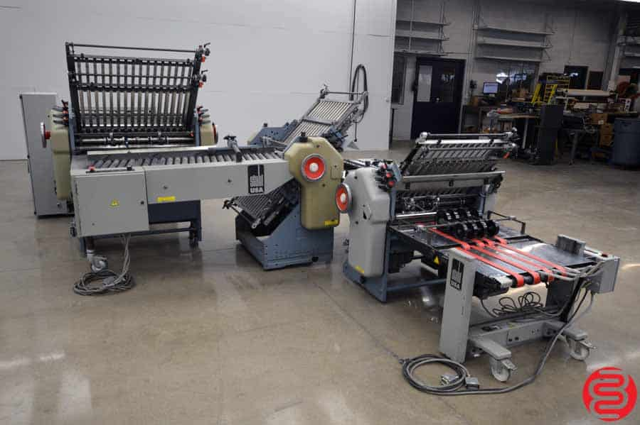 Stahl B26 Continuous Feed Paper Folder w/ 8 Page Unit, 16 Page Unit, and Mobile Delivery