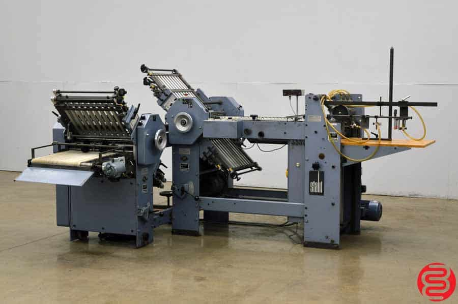 Stahl T 47 Pile Feed Paper Folder w/ 8 Page Unit and Hang On Delivery