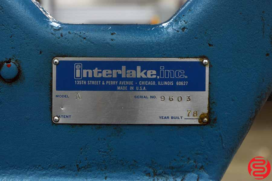 Acme Interlake Model A Flat Book / Saddle Stitcher