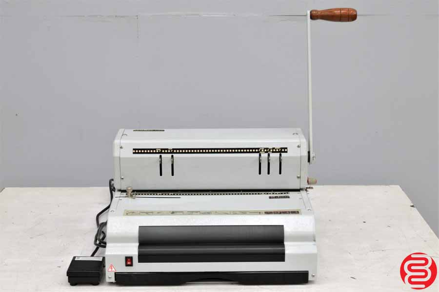 Akiles CoilMac ECI Coil Binding Machine w/ Electric Inserter and Pallet of Assorted Coils