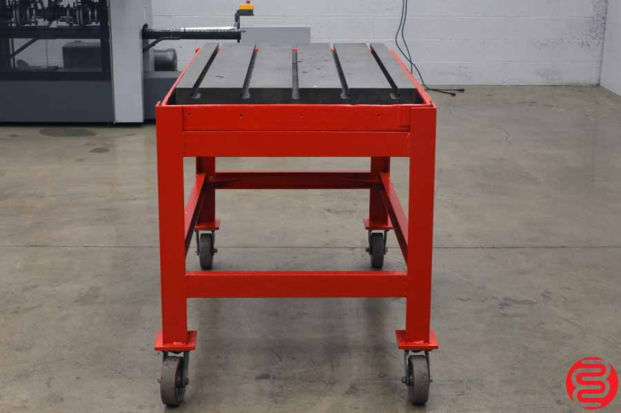 "Cast Iron T-Slotted Welding Table / Layout Plate / Fixture - 29"" x 45"""