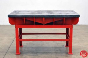"Cast Iron Welding Layout Inspection Work Table Bench 36.5"" x 61"""