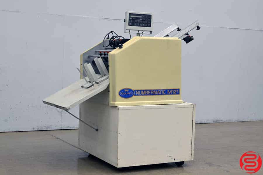 Count Numbermatic M121 Perf Slit Score Numbering Machine w/ Three Numbering Heads