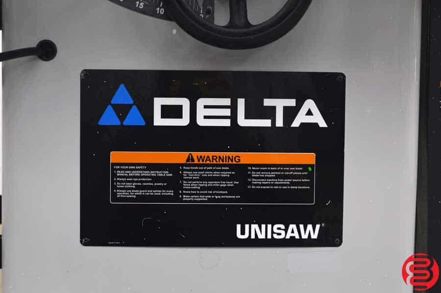 """Delta 10"""" 36-829 Unisaw Table Saw"""
