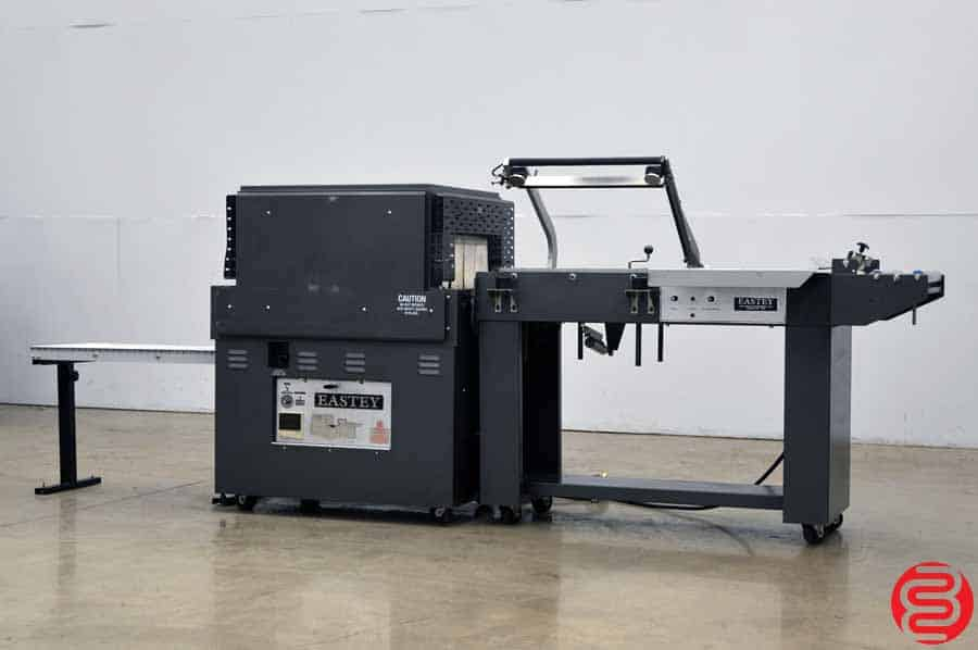 Eastey 16 x 22 Automatic Shrink Wrap System w/ Magnetic Hold Down, Power Take Away, and Exit Conveyor