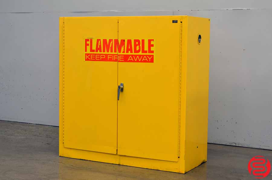 Edsal SC300F 43-Inch Wide by 18-Inch Deep by 44-Inch High 30-Gallon One-Shelf Flammable Liquid Safety Cabinet