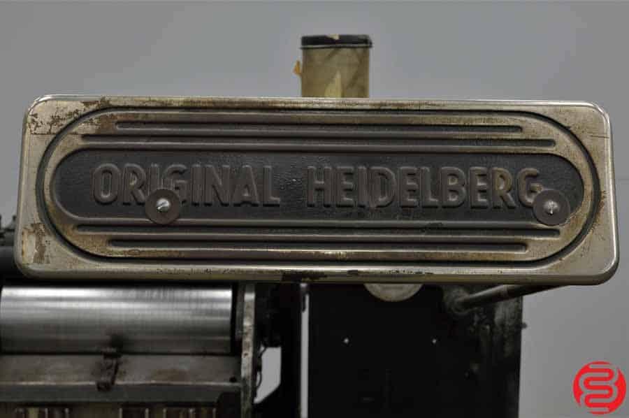 "Heidelberg 10"" x 15"" Red Ball Windmill Letterpress w/ Lockout Rollers"