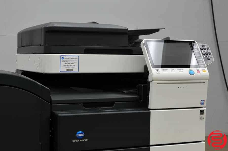 2014 Konica Minolta Bizhub C654e Color Digital Press w/ Finisher and High Capacity Tray