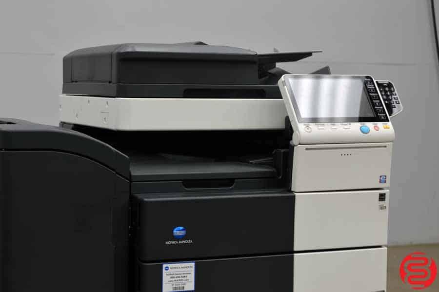 2014 Konica Minolta Bizhub C654e Color Digital Press w/ Finisher and High Capacity Tray