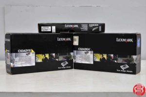 Lexmark C52 / C53 Yellow and Black Toner w/ Black Photoconductor