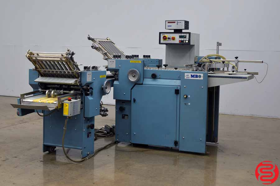 MBO B15 Pile Feed Paper Folder w/ 8 Page Unit