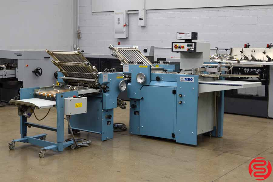 MBO B20 Pile Feed Paper Folder w/ 8 Page unit and Mobile Delivery