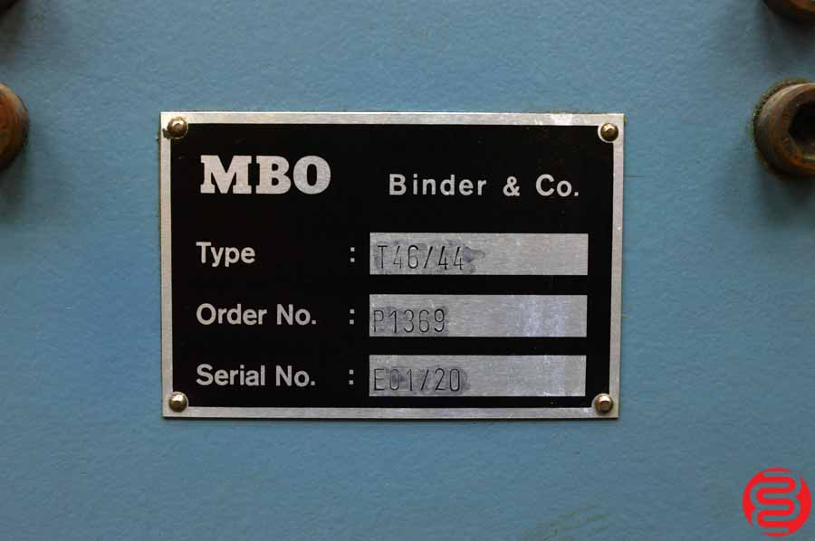 MBO T46 Pile Feed Paper Folder w/ 8 Page Unit