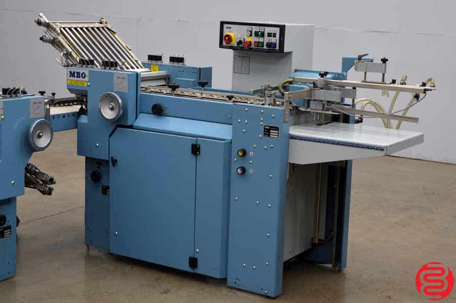 MBO B16 Pile Feed Paper Folder w/ 8 Page unit and Mobile Delivery