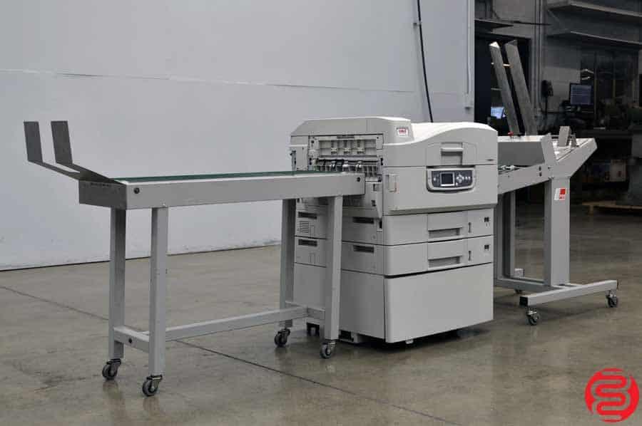 OKI C9600 Digital Envelope Press w/ Feeder and Delivery Conveyor