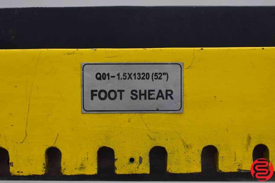 """TJL 52"""" 16 Gauge Foot Shear"""