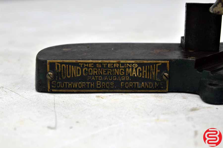 The Sterling Table Top Round Cornering Machine