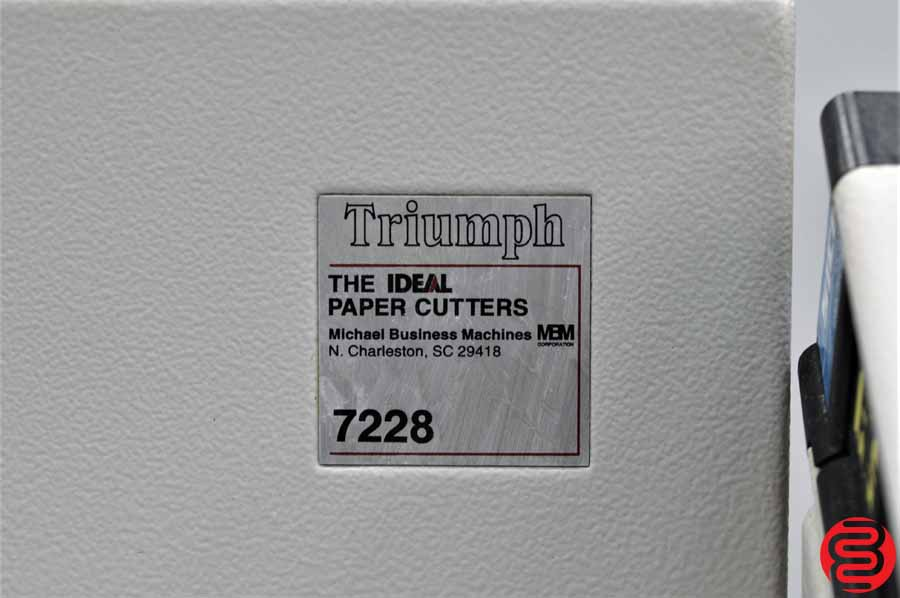 Triumph Ideal 7228-EC1 Programmable Paper Cutter w/ Safety Lights