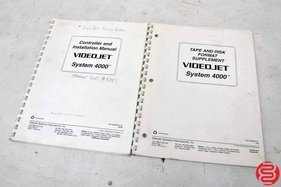 VideoJet Cheshire Excel Series 270G (Qty 2) Inkjet Print Systems w/ Cheshire VideoJet 4000
