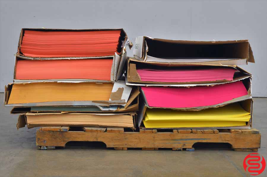 Assorted Color Paper - Qty 660 lbs