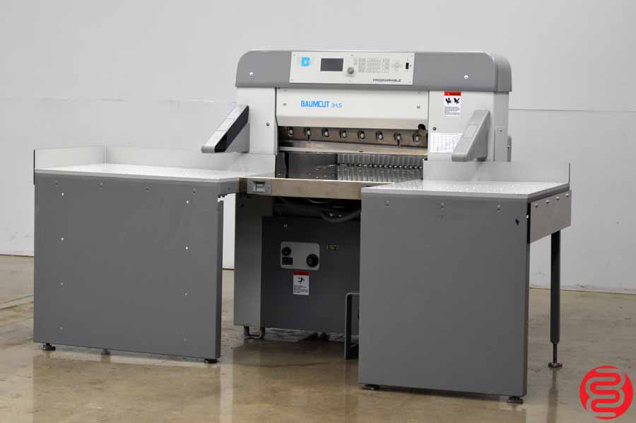 """2005 Baumcut 31.5"""" Hydraulic Programmable Paper Cutter w/ Air Table and Safety Lights"""