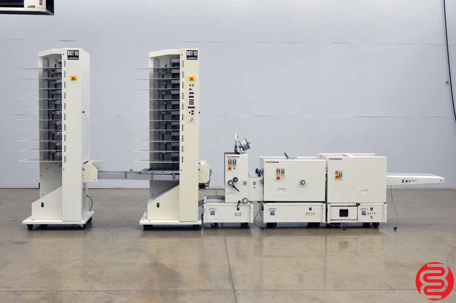 CP Bourg BST 10 20 Bin Booklet Making System w/ Stitcher, Folder, and Trimmer
