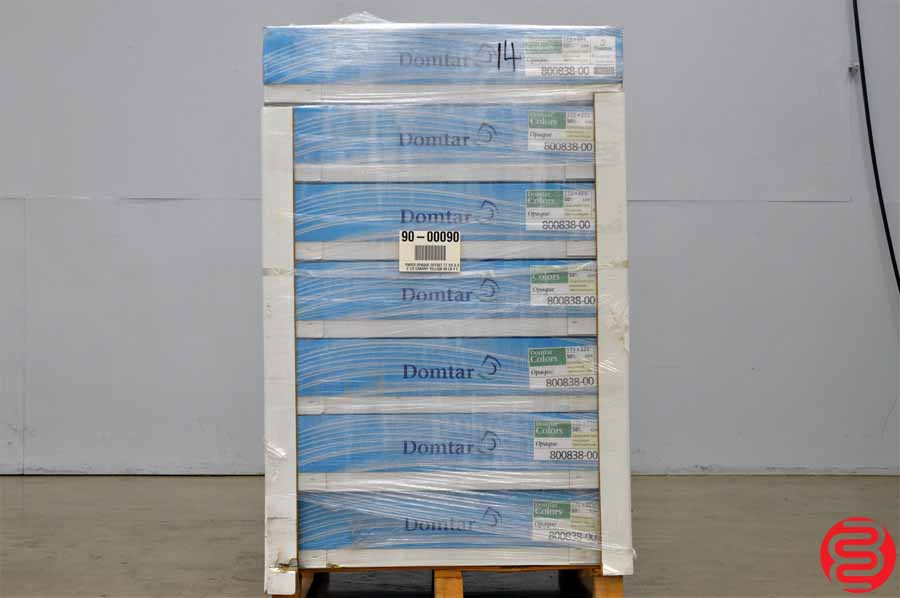 Domtar Colors Opaque Canary 50 lb 17 1/2 x 22 1/2 Paper - Qty 14 Cases