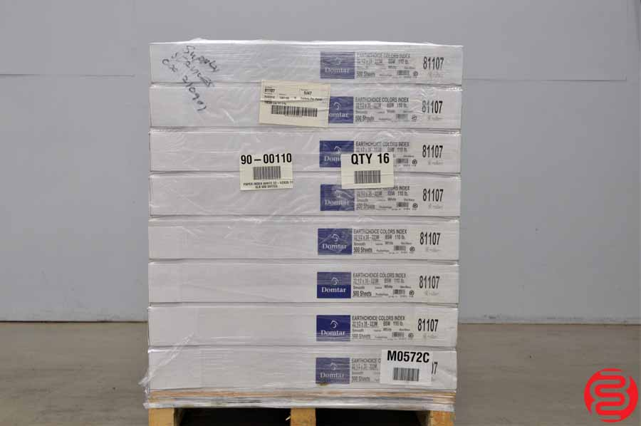 Domtar Earth Choice Smooth White 110 lb 22 1/2 x 35 Paper - Qty 16 Cases