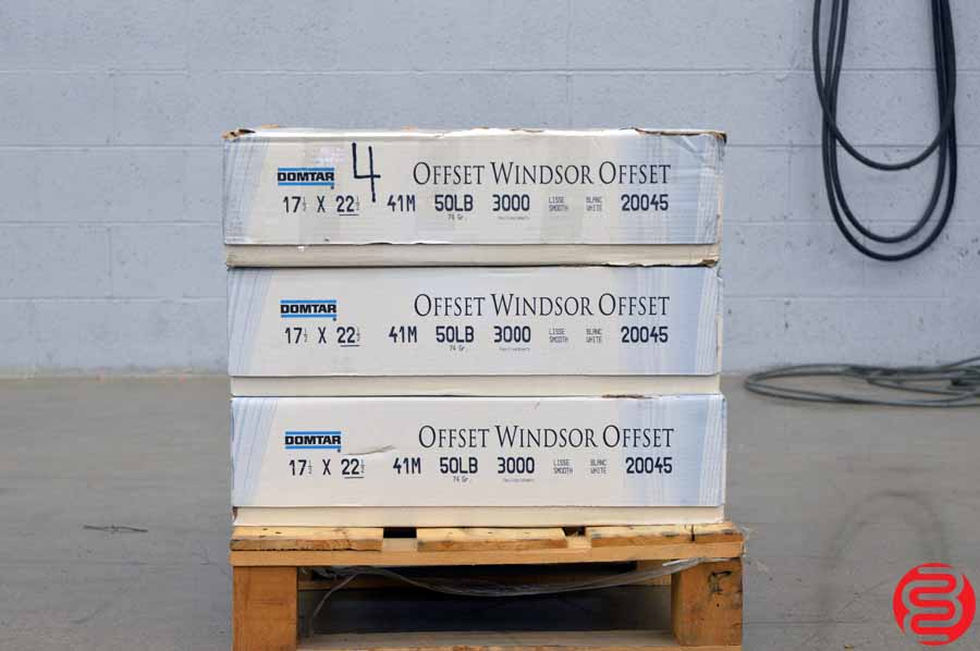 Domtar Offset Windsor Smooth White 50 lb 17 1/2 x 22 1/2 Paper - Qty 3 Cases