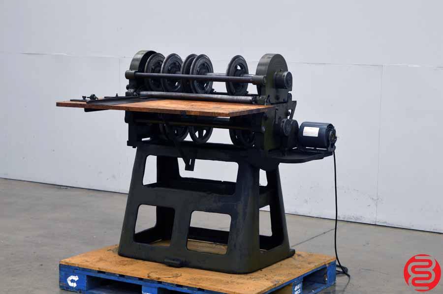F.P. Rosback Heavy Duty Perf Slit Score Machine