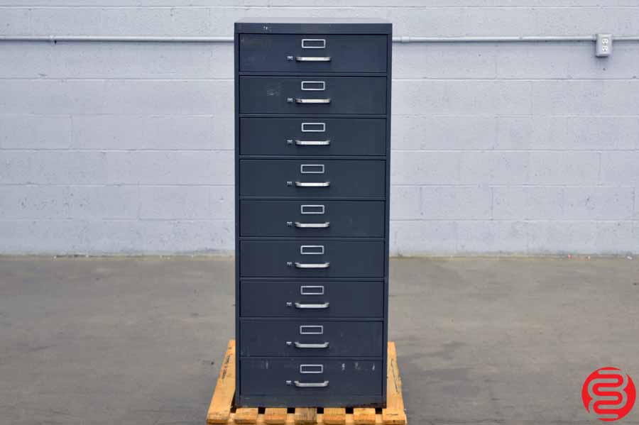 Flat Filing Cabinet - 9 Drawer