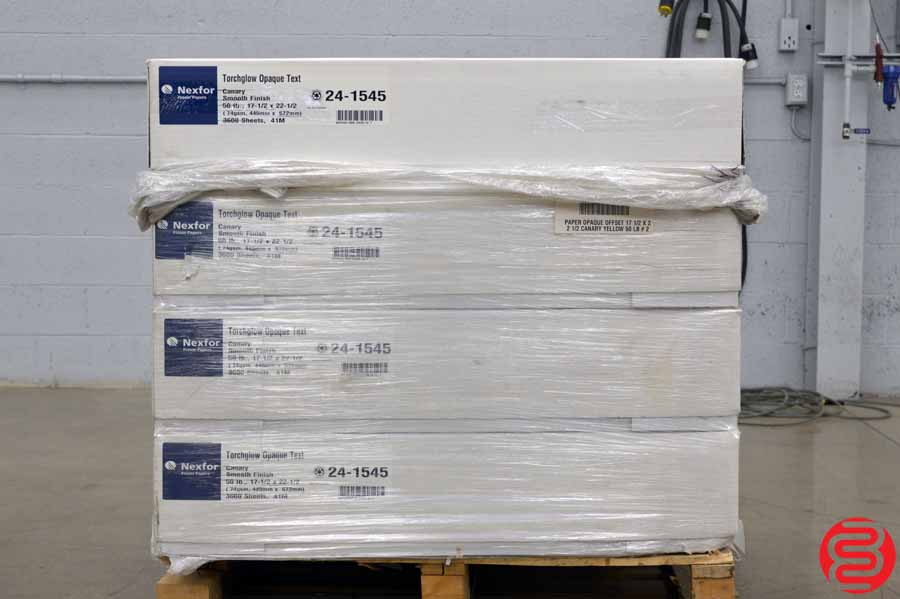 Fraser Nexfor Torchglow Opaque Text Smooth Finish Canary 50 lb 17 1/2 x 22 1/2 Paper - Qty 7 Cases