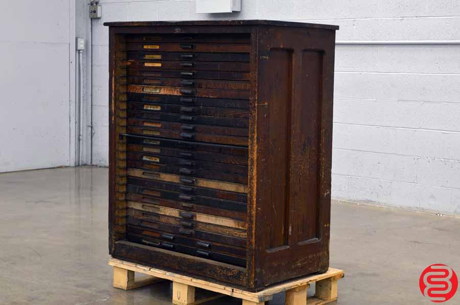 Hamilton Letterpress Type Cabinet - 25 Drawers