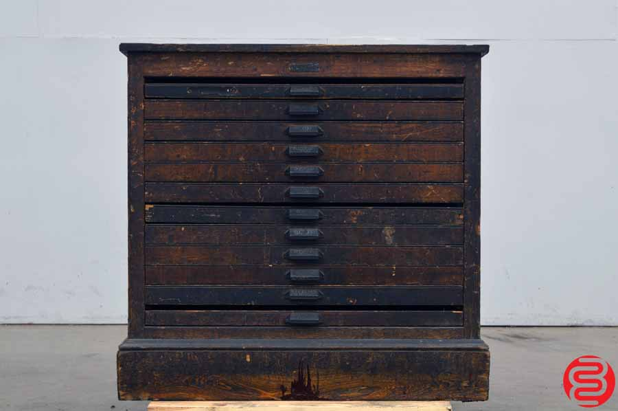 Hamilton Letterpress Type Cabinet - 12 Drawers