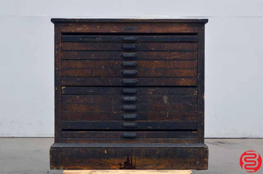 Hamilton Letterpress Type Cabinet - 12 Drawers