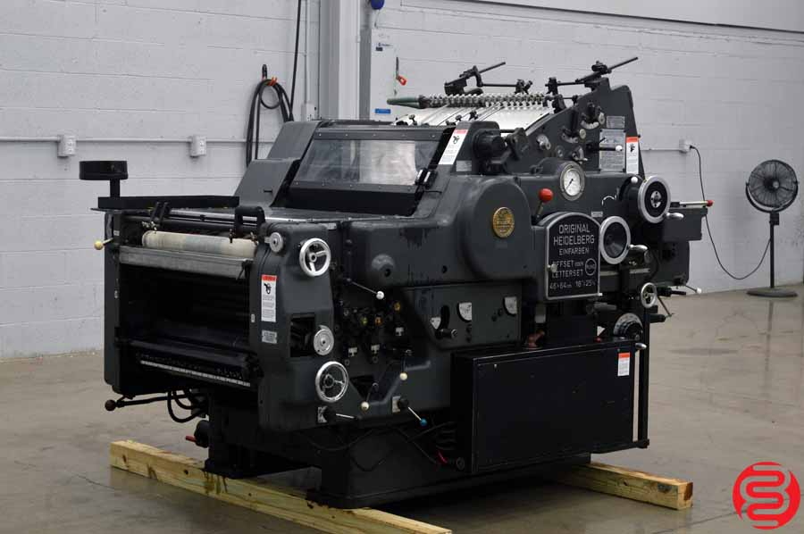 "Heidelberg KORD 64 18"" x 25 1/2"" (Grey Model) Offset Printing Press w/ Long Box"
