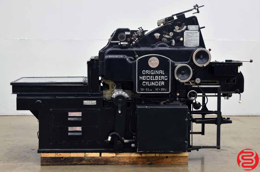 """Heidelberg KS 15"""" x 20 1/2"""" Cylinder Die Cutter"""