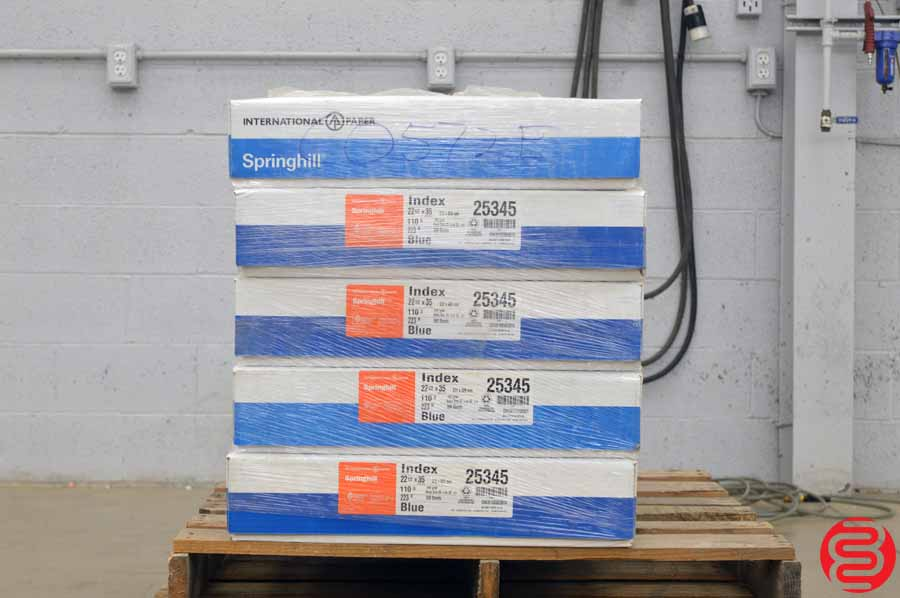 International Springhill Index Blue 110 lb 22 1/2 x 35 Paper - Qty 5 Cases