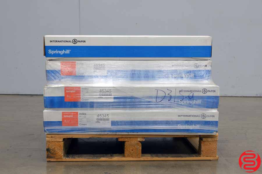 International Springhill Index Green 110 lb 22 1/2 x 35 Paper - Qty 6 Cases