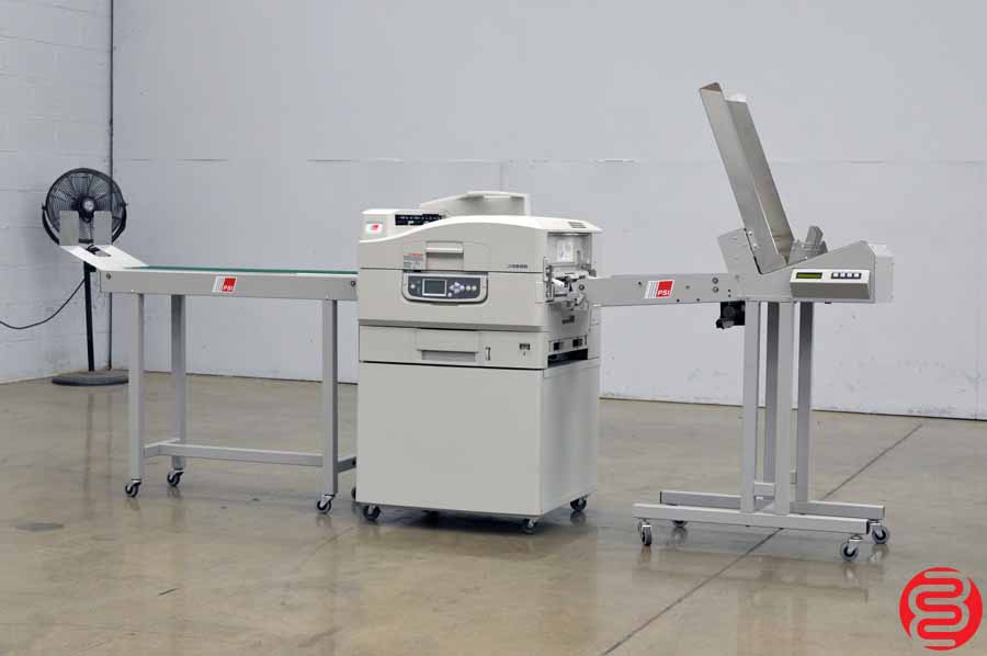 Ricoh PSI LM3655 Digital Envelope Press w/ Feeder and Delivery Conveyor