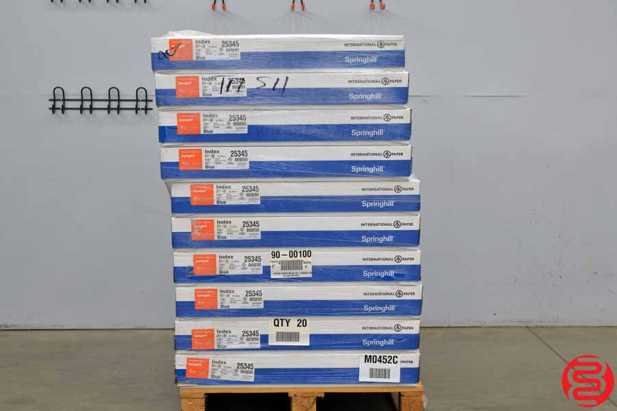 Springhill Blue 110 lb 22 1/2 x 35 Paper - Qty 20 Cases