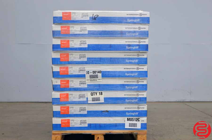 Springhill Green 110 lb 22 1/2 x 35 Paper - Qty 18 Cases