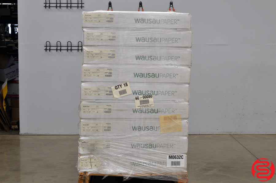 Wausau Exact Ice Smooth Finish White 50 lb 17 1/2 x 22 1/2 Paper - Qty 18 Cases