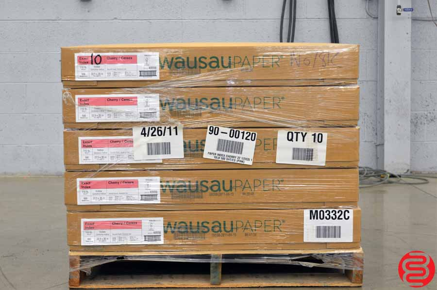 Wausau Exact Index Cherry 110 lb 22 1/2 x 35 Paper - Qty 10 Cases